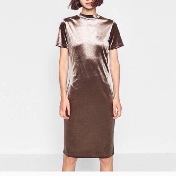 Zara Dresses & Skirts - Nwot Zara metallic velvet dress